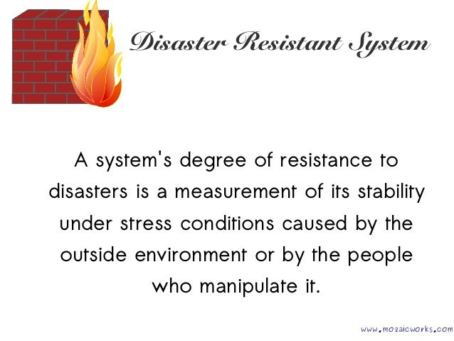 Architecture for Disaster Resistant Systems @I TAKE Unconference 29 05 2015 Slide 3