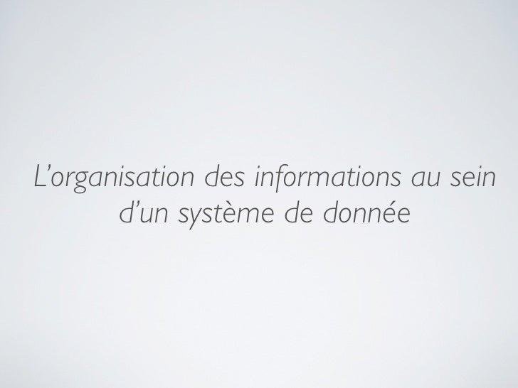 Introduction à l'architecture information Slide 2