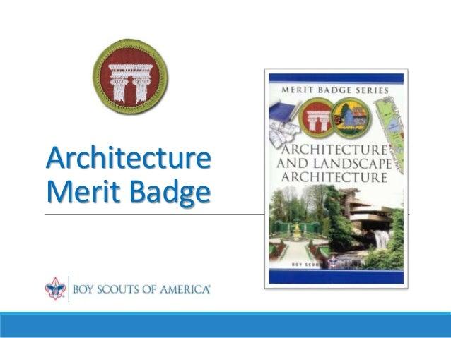 merit badge slideshare architecture