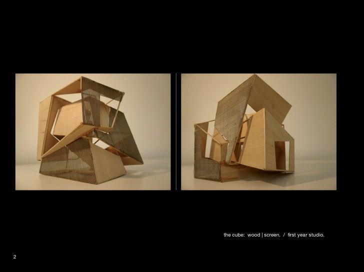 Architecture models - Wooden cube house plans ...