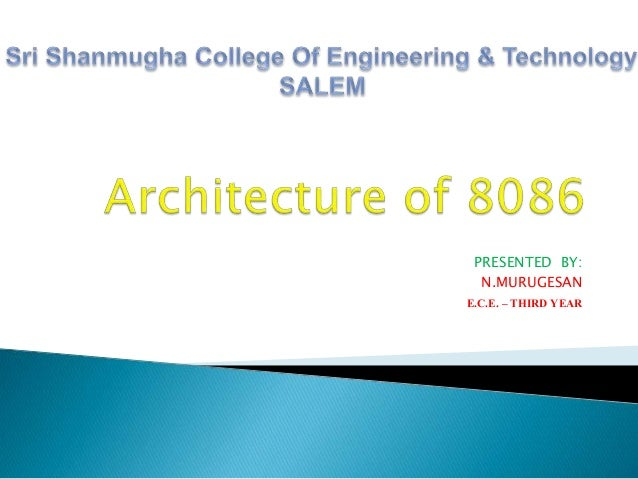 Architecture of 8086 for Architecture 8086