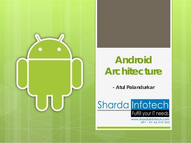 AndroidArchitecture - Atul Palandurkar