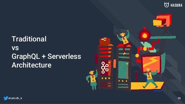 shahidh_k Traditional vs GraphQL + Serverless Architecture 26