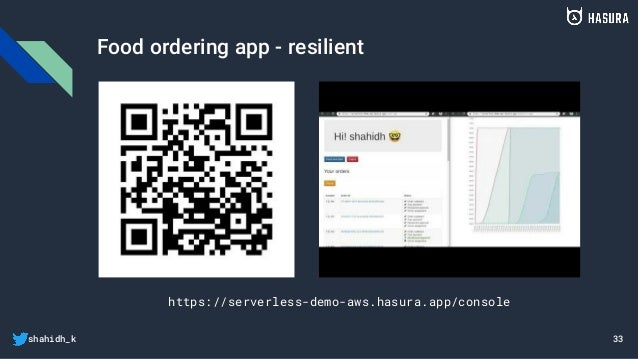 shahidh_k Food ordering app - resilient 33 https://serverless-demo-aws.hasura.app/console
