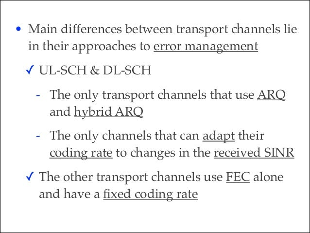 • Physical Downlink Shared CHannel (PDSCH) & Physical Uplink Shared CHannel (PUSCH)! ✓ The most important physical channel...