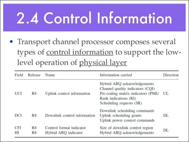• Downlink Control Information (DCI) contains most of the downlink control fields! ✓ Using scheduling commands and scheduli...