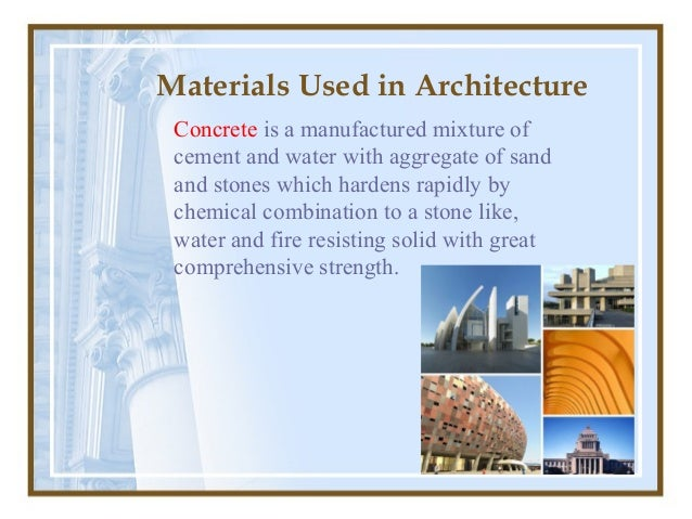 Materials Used in Architecture ...