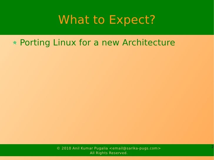 Architecture Porting Slide 2