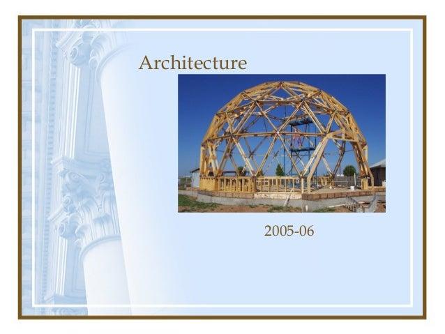 Architecture  2005-06