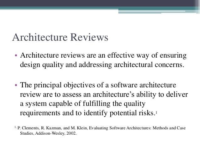 Architecture Review Slide 2