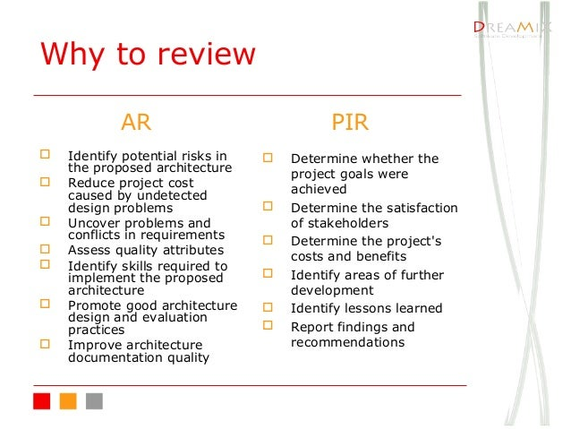 the post implementation review The post-implementation review report builds on project status reports, which were prepared at the completion of key project phases project summary.