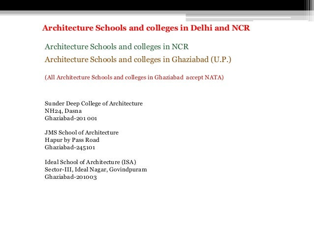Architecture Schools and colleges in NCR Architecture Schools and colleges in Ghaziabad (U.P.) (All Architecture Schools a...