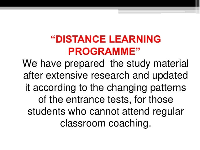 """""""DISTANCE LEARNING PROGRAMME"""" We have prepared the study material after extensive research and updated it according to the..."""