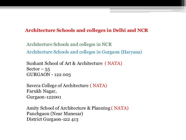 Architecture Schools and colleges in NCR Architecture Schools and colleges in Gurgaon (Haryana) Sushant School of Art & Ar...