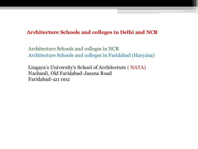Architecture Schools and colleges in Faridabad (Haryana) Lingaya's University's School of Architecture ( NATA) Nachauli, O...