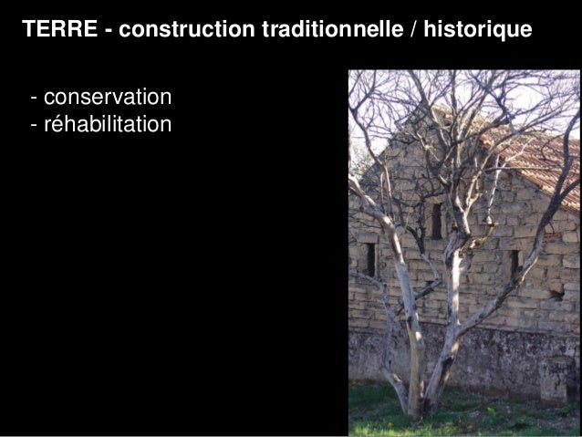 Architecture terre for Architecture traditionnelle definition