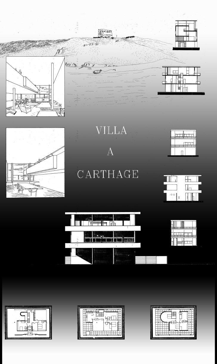 Architecture Villa A La Carthage Compostition Drawing Project Portfolio