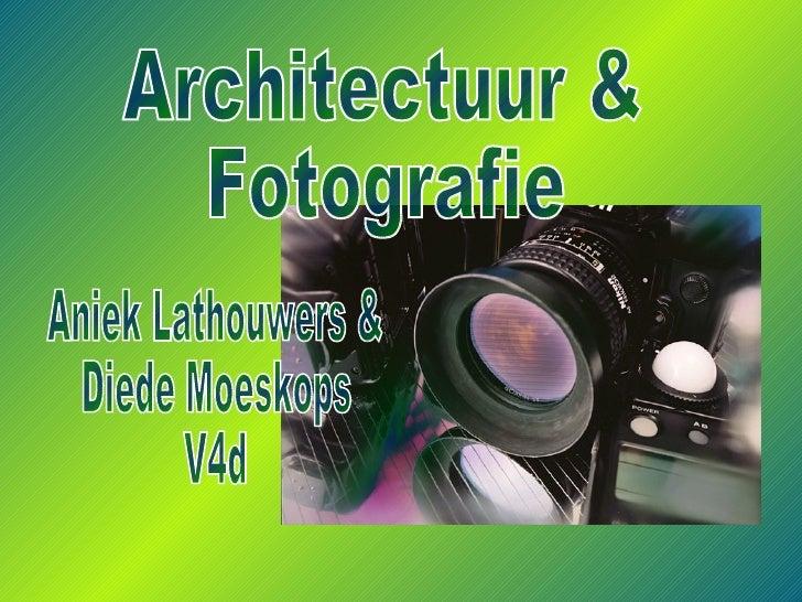 Aniek Lathouwers & Diede Moeskops V4d Architectuur &  Fotografie