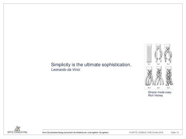 © OPITZ CONSULTING GmbH 2013 Seite 15Vom Zusammenhang zwischen Architekturen und agilem VorgehenSimplicity is the ultimate...