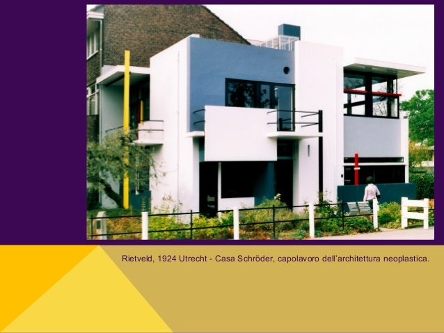 Rietveld, 1924 Utrecht - Casa Schröder, capolavoro dell'architettura neoplastica.