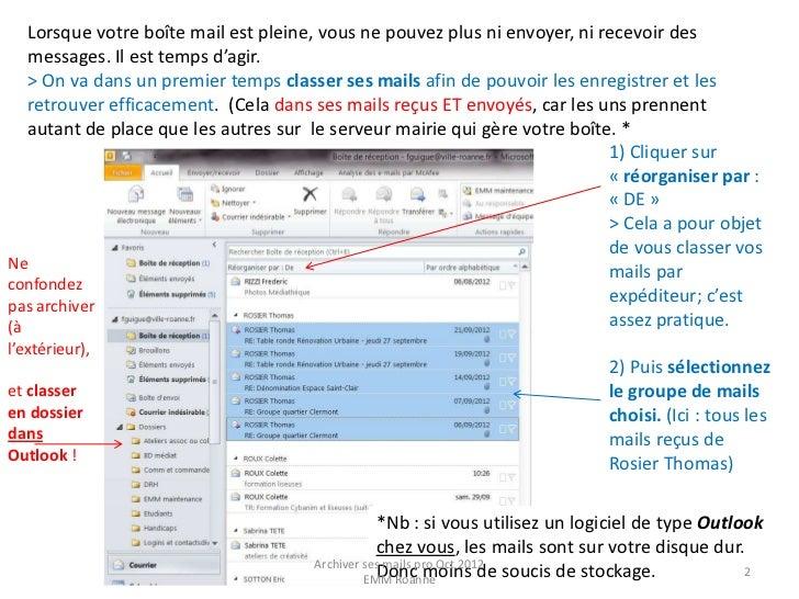 Archivage de vos mails Pro Slide 2