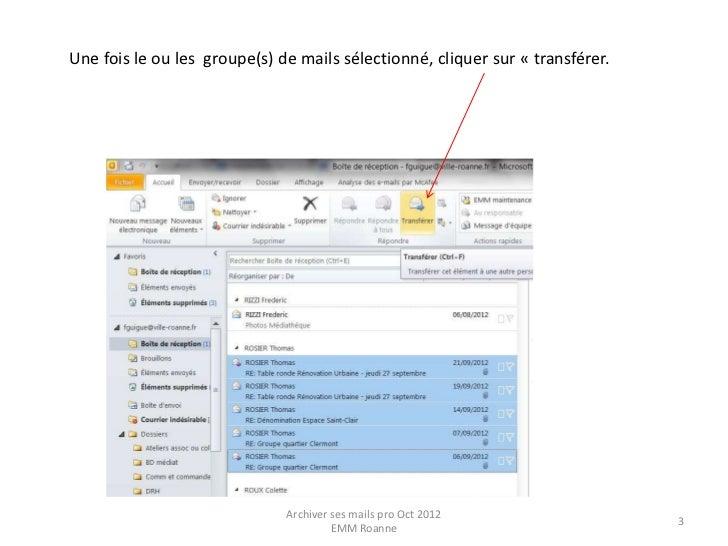 Archivage de vos mails Pro Slide 3