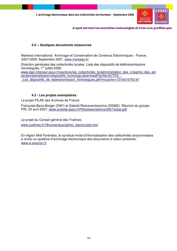 L 39 archivage lectronique valeur probante dans les for Dgcl interieur gouv fr