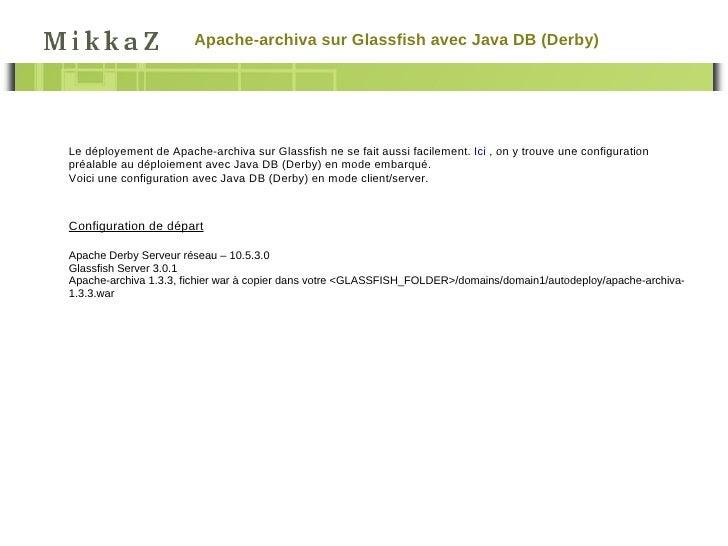 Archiva on glassfish Slide 2