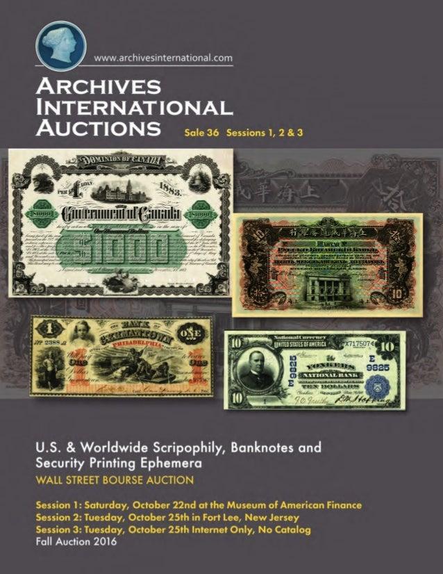 Archives International Auctions Sale 36 U S  & Worldwide