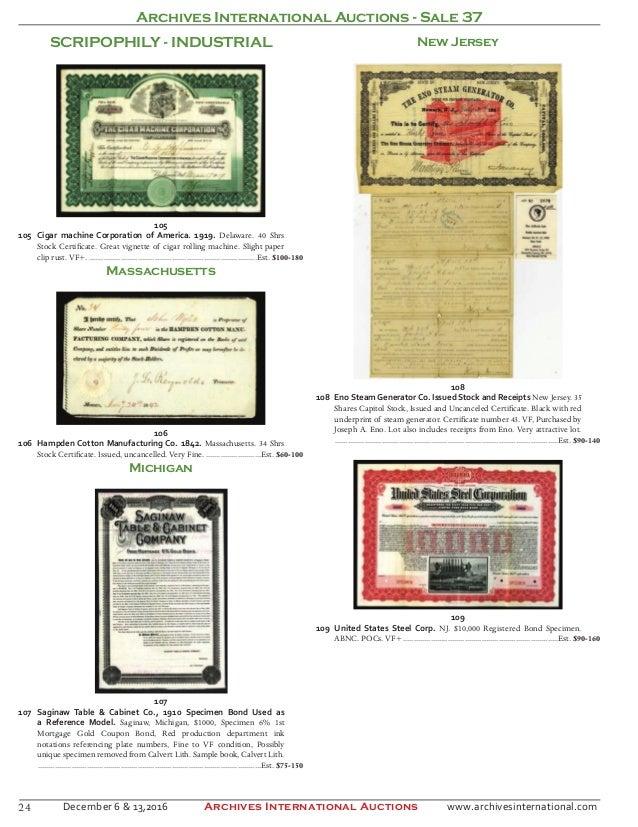 Archives International Auctions Sale 37