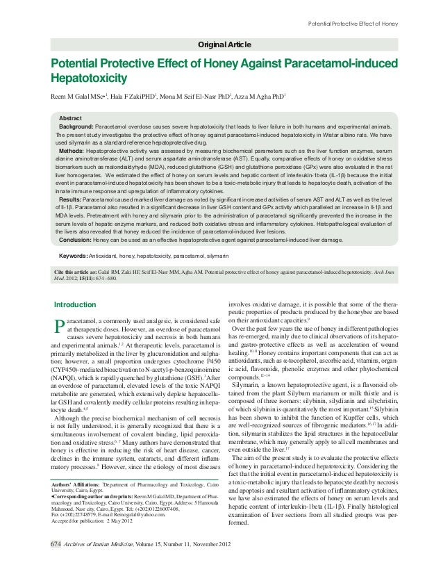 Original ArticlePotential Protective Effect of Honey Against Paracetamol-inducedHepatotoxicity                        1   ...