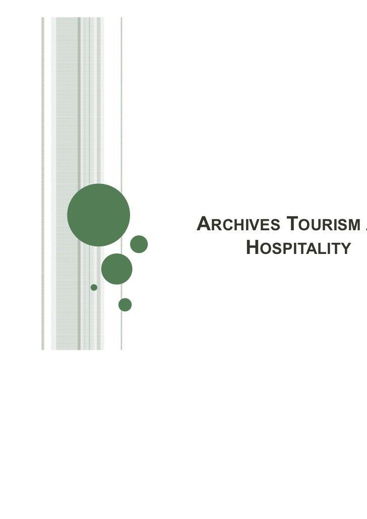 ARCHIVES TOURISM AND    HOSPITALITY