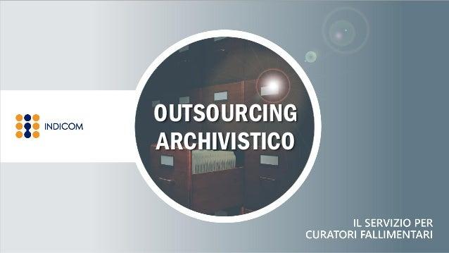 OUTSOURCING ARCHIVISTICO