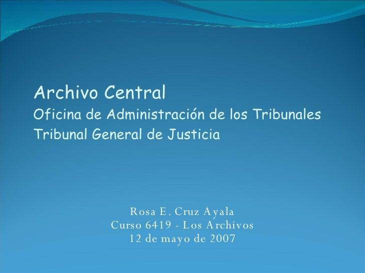 Archivo central de la oficina de administraci n de for Oficina central de mapfre