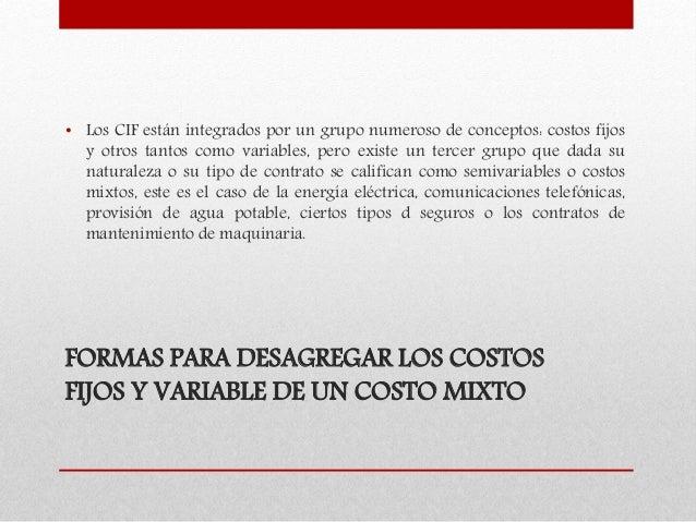 DESAGREGACIÓN DE COSTOS Slide 2