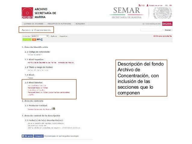 Descripción ISAD (G) : Sección