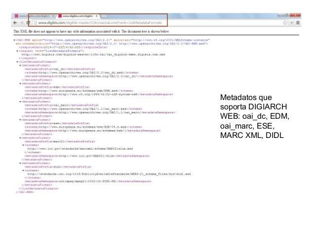 Más ejemplos de interés • Micrositio demo Archivos Históricos (con objetos digitales en jpg) • http://www.digibis.com/digi...