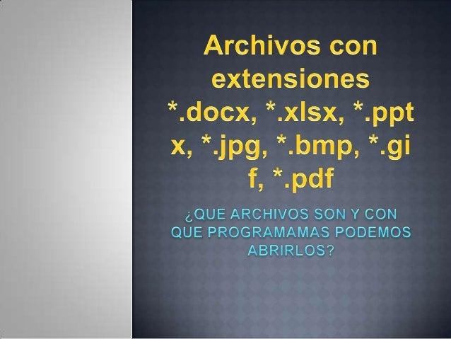 Estos archivos suelen ser usados diariamente en nuestro trabajo, estudio y   simplemente para compartir información, ya se...