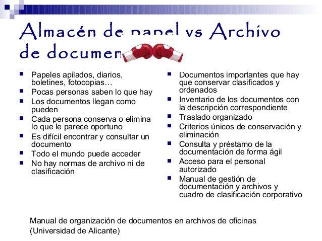 Las fases del archivo i el archivo de oficina y el for Funciones de una oficina wikipedia