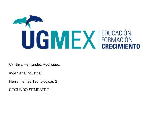 Cynthya Hernández Rodríguez Ingeniería industrial Herramientas Tecnológicas 2 SEGUNDO SEMESTRE