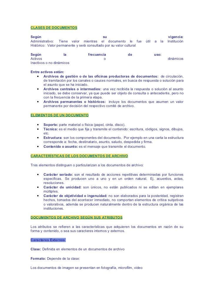 CLASES DE DOCUMENTOS  Según                                       su                                              vigencia...
