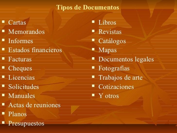 Archivo Y Control De Documentos