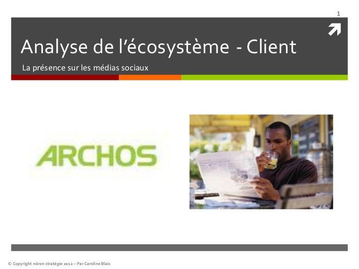 1                                                              Analyse de l'écosystème - Client       La présence sur les...