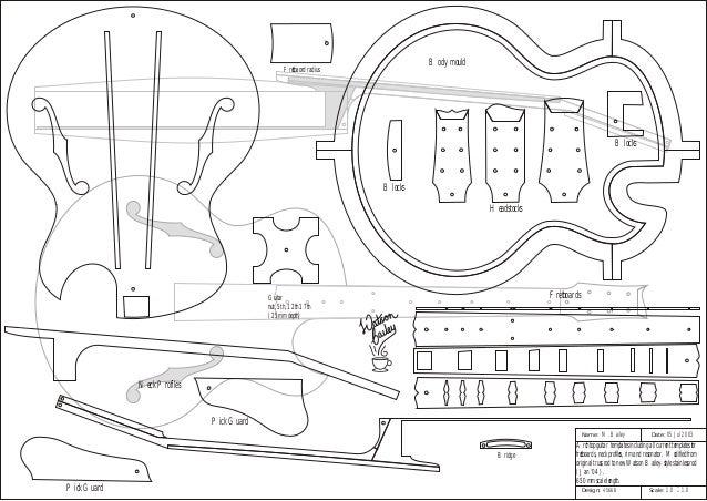 Planta de Guitarra Semi Acústica (archtop) nº1