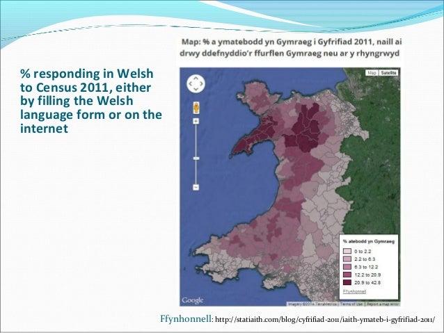 Archwilio Data Am Y Gymraeg Examining Welsh Language Data - Welsh language map