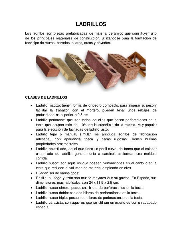 Arcilla monografia - Clases de ladrillos ...