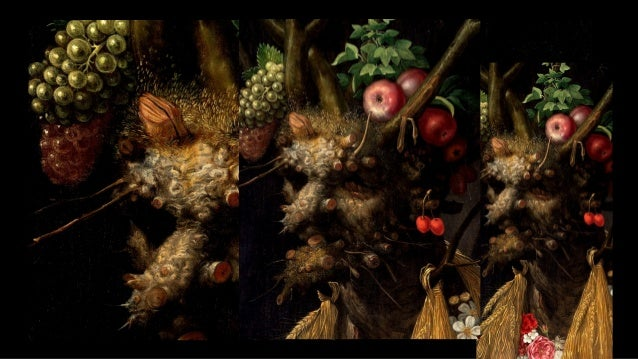 ARCIMBOLDO, Giuseppe Four Seasons in One Head c. 1590 Oil on canvas, 44.7 cm x 60.4 cm National Gallery of Art , Washington