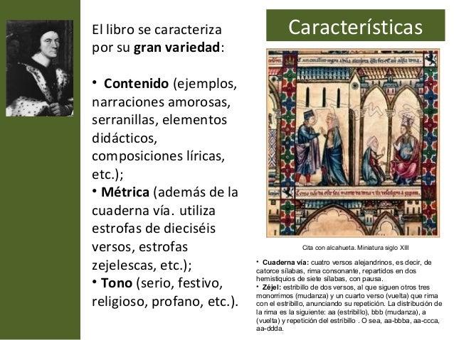 El libro se caracteriza                Característicaspor su gran variedad:• Contenido (ejemplos,narraciones amorosas,serr...