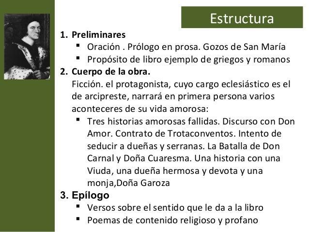 Estructura1. Preliminares     Oración . Prólogo en prosa. Gozos de San María     Propósito de libro ejemplo de griegos y...
