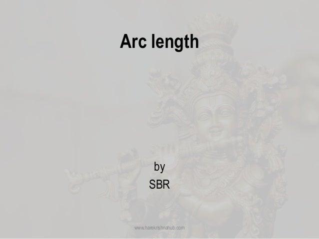 Arc length by SBR www.harekrishnahub.com